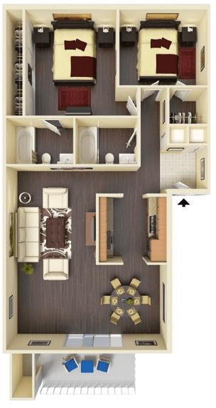 2 Bedrooms 2 Bathrooms Apartment for rent at Hidden Lake Apartments in Santa Clara, CA