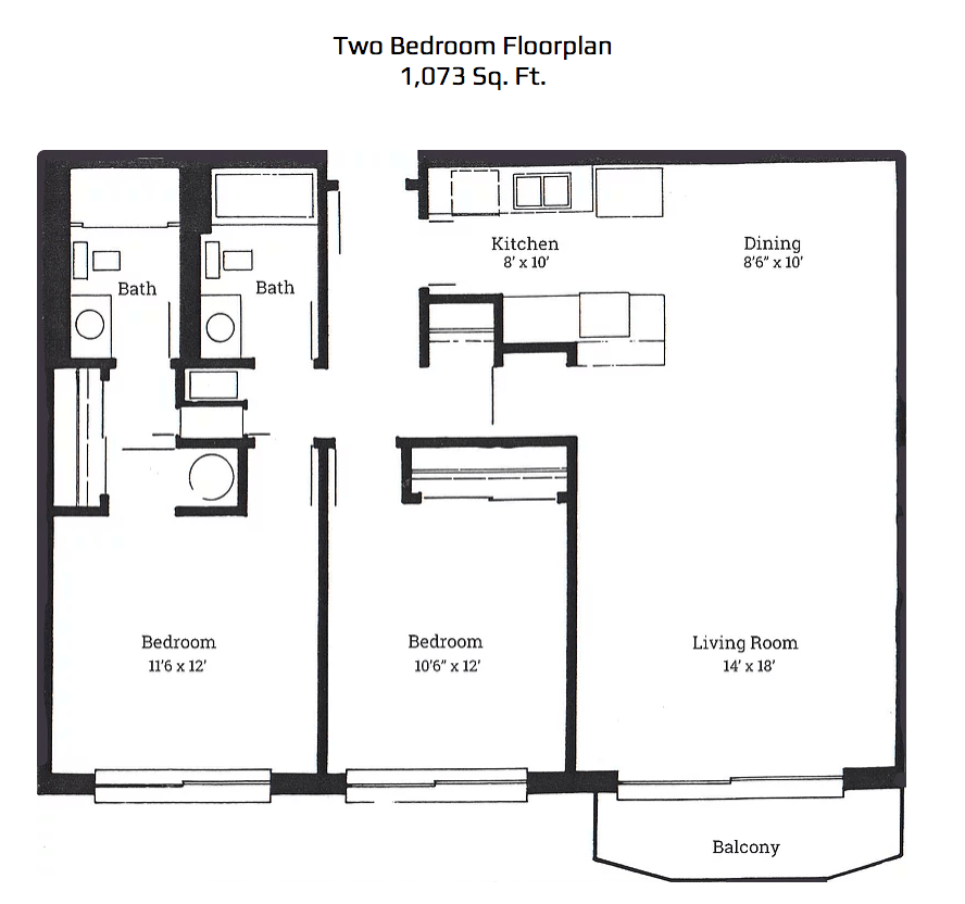 2 Bedrooms 2 Bathrooms Apartment for rent at Park Plaza Apartments in Corvallis, OR