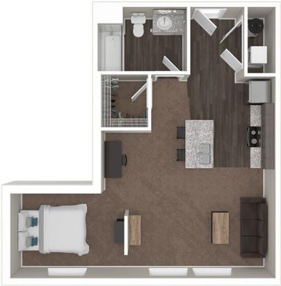 Studio 1 Bathroom Apartment for rent at The Wellington in Columbus, OH