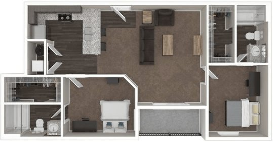 2 Bedrooms 2 Bathrooms Apartment for rent at The Wellington in Columbus, OH