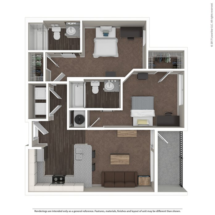 2 Bedrooms 2 Bathrooms Apartment for rent at Highline At Nine in Columbus, OH
