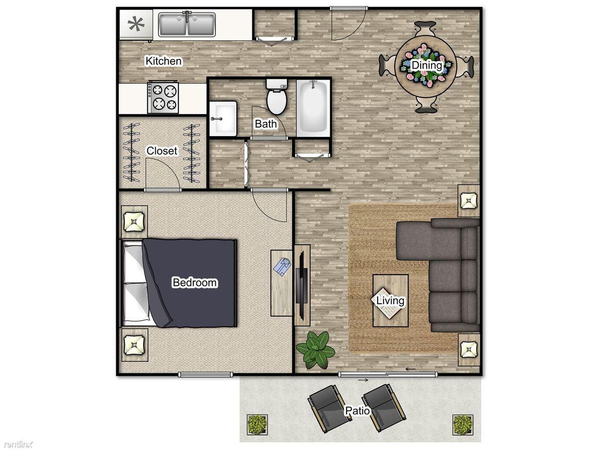 1 Bedroom 1 Bathroom Apartment for rent at 55 Pharr in Atlanta, GA