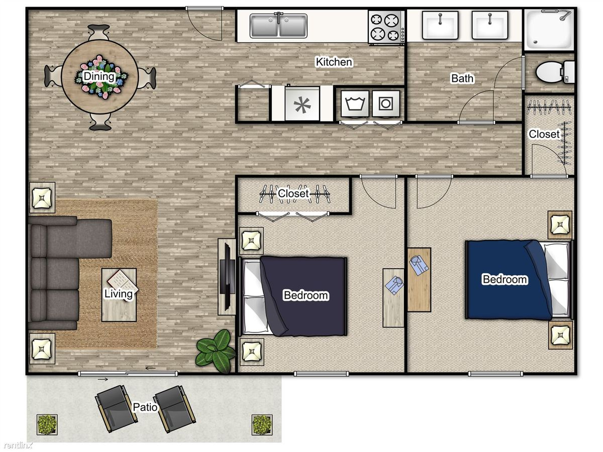 2 Bedrooms 1 Bathroom Apartment for rent at 55 Pharr in Atlanta, GA