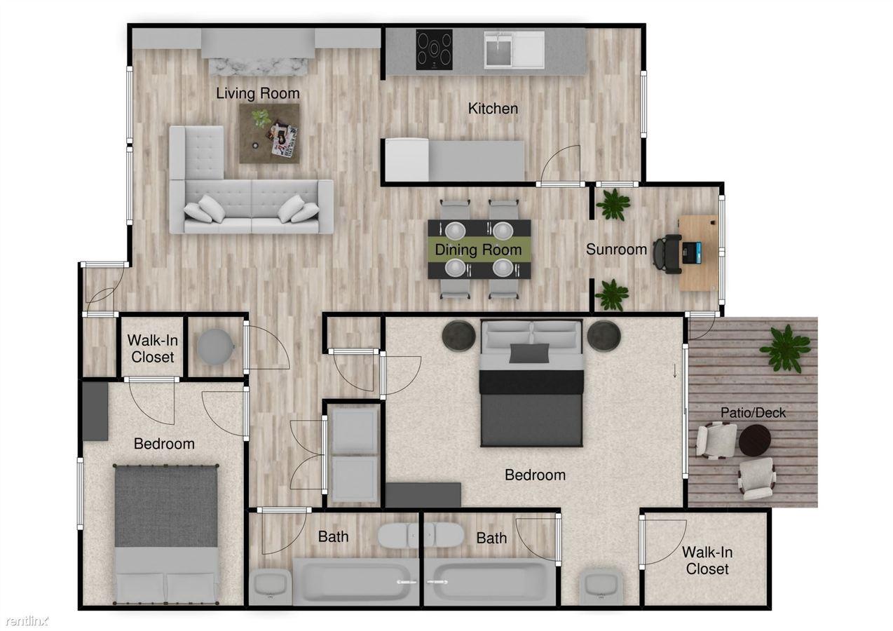 2 Bedrooms 2 Bathrooms Apartment for rent at Capella Apartments in Tucker, GA