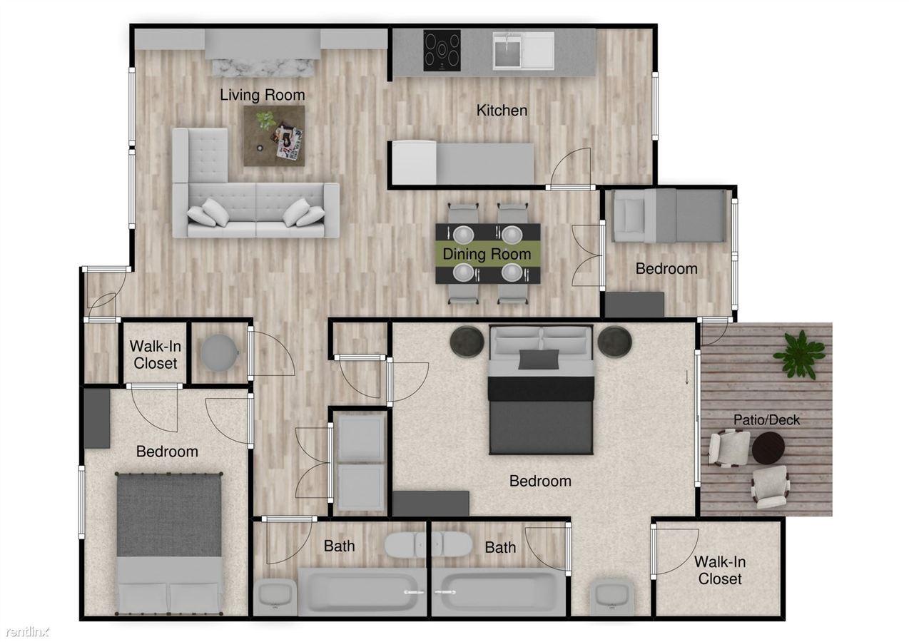 3 Bedrooms 2 Bathrooms Apartment for rent at Capella Apartments in Tucker, GA
