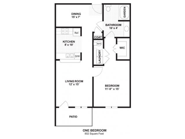 1 Bedroom 1 Bathroom Apartment for rent at Amberton At Stonewater in Cary, NC