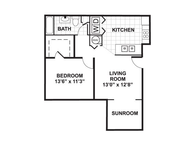 1 Bedroom 1 Bathroom Apartment for rent at Bromley Village Apts in Fort Mill, SC
