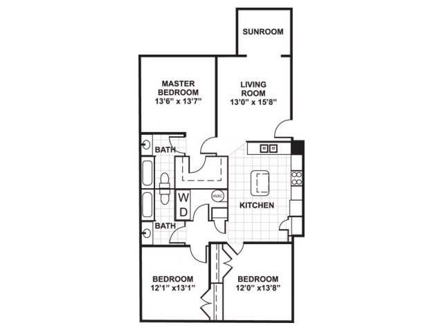 3 Bedrooms 2 Bathrooms Apartment for rent at Bromley Village Apts in Fort Mill, SC