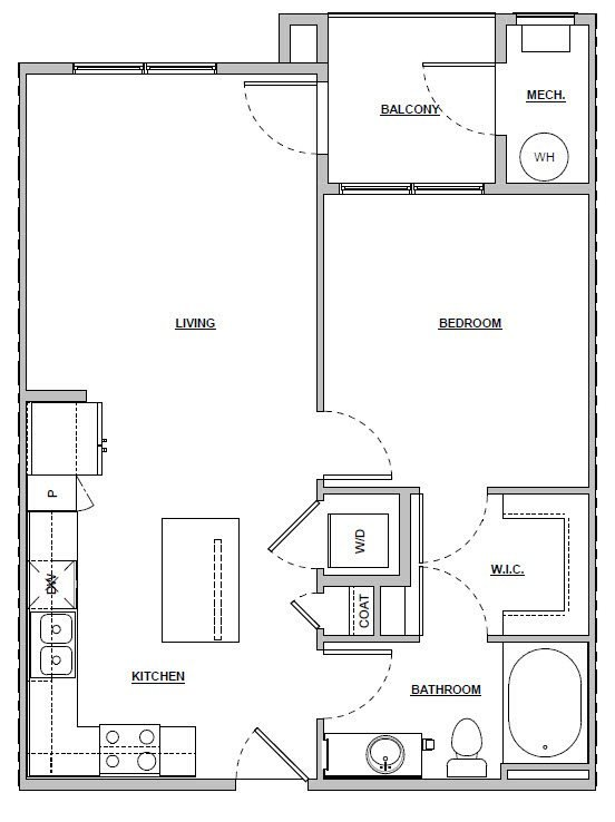 1 Bedroom 1 Bathroom Apartment for rent at Altitude 970 in Kansas City, MO