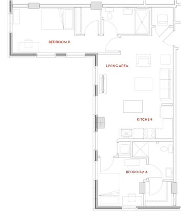 2 Bedrooms 2 Bathrooms Apartment for rent at The Foundry Lofts in Ann Arbor, MI