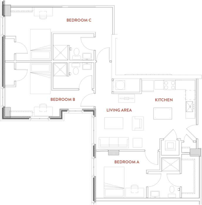 3 Bedrooms 3 Bathrooms Apartment for rent at The Foundry Lofts in Ann Arbor, MI