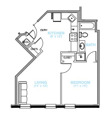 1 Bedroom 1 Bathroom Apartment for rent at Owen's Lofts in St Louis, MO