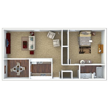 1 Bedroom 1 Bathroom Apartment for rent at London House Apartments in Lenexa, KS