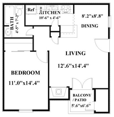 1 Bedroom 1 Bathroom Apartment for rent at Springhill Apartments in Overland Park, KS