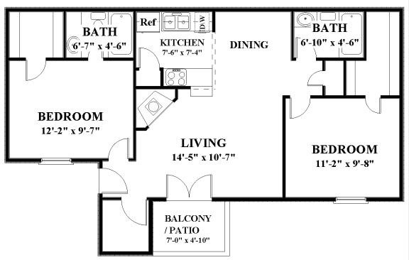 2 Bedrooms 2 Bathrooms Apartment for rent at Springhill Apartments in Overland Park, KS