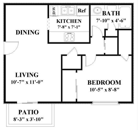 1 Bedroom 1 Bathroom Apartment for rent at Autumn Park in Overland Park, KS
