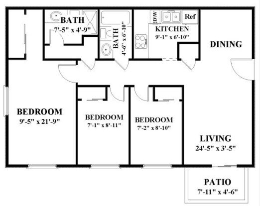 3 Bedrooms 2 Bathrooms Apartment for rent at Autumn Park in Overland Park, KS