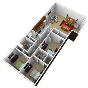3 Bedrooms 2 Bathrooms Apartment for rent at Chatham Hills in Springfield, IL