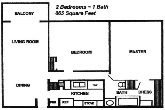 2 Bedrooms 1 Bathroom Apartment for rent at Cambridge At River Oaks in Kansas City, KS