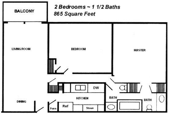 2 Bedrooms 2 Bathrooms Apartment for rent at Cambridge At River Oaks in Kansas City, KS