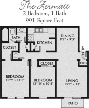 2 Bedrooms 1 Bathroom Apartment for rent at Bavaria Apartments in Nashville, TN