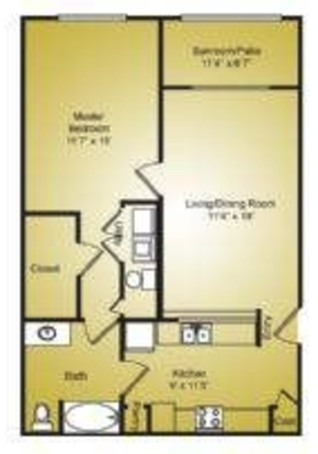 1 Bedroom 1 Bathroom Apartment for rent at Ashford Place in Charlotte, NC