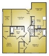 2 Bedrooms 2 Bathrooms Apartment for rent at Ashford Place in Charlotte, NC