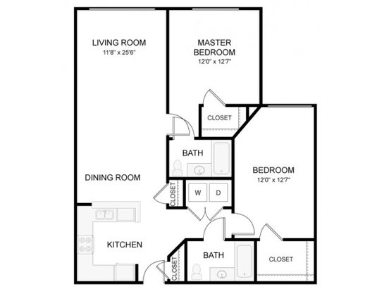 2 Bedrooms 2 Bathrooms Apartment for rent at The Waverly in Raleigh, NC