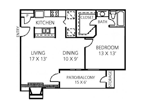 1 Bedroom 1 Bathroom Apartment for rent at Channings Mark Apartment Homes in Austin, TX