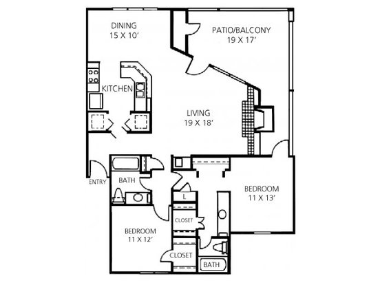 2 Bedrooms 2 Bathrooms Apartment for rent at Channings Mark Apartment Homes in Austin, TX