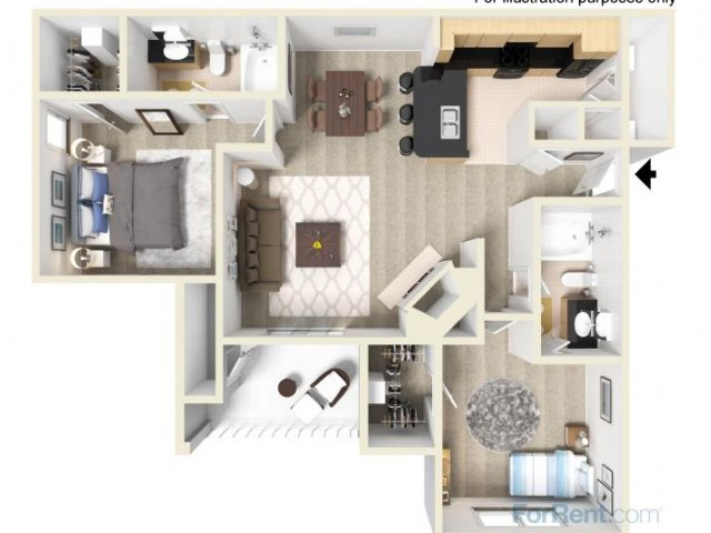 2 Bedrooms 2 Bathrooms Apartment for rent at Madison At Stone Creek in Austin, TX