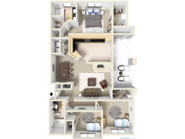 3 Bedrooms 2 Bathrooms Apartment for rent at Madison At Stone Creek in Austin, TX