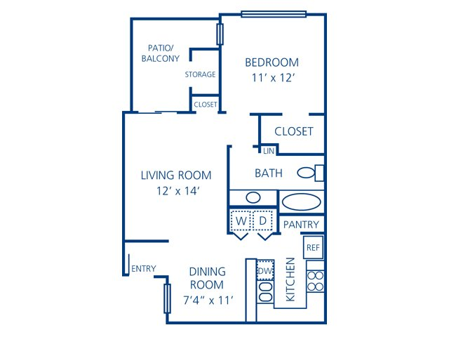1 Bedroom 1 Bathroom Apartment for rent at Northland At The Arboretum in Austin, TX