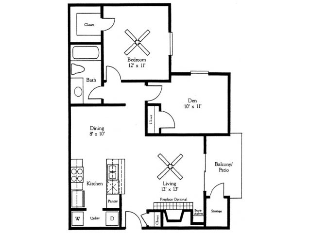 1 Bedroom 1 Bathroom Apartment for rent at Village Oaks in Austin, TX