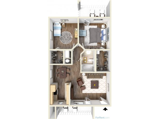 2 Bedrooms 1 Bathroom Apartment for rent at Promontory Apartment Homes in Tucson, AZ