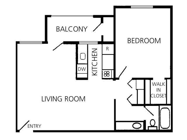 1 Bedroom 1 Bathroom Apartment for rent at Valley View Apartments in Tucson, AZ