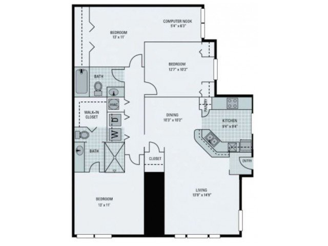 3 Bedrooms 2 Bathrooms Apartment for rent at Bay Harbor in Fort Myers, FL