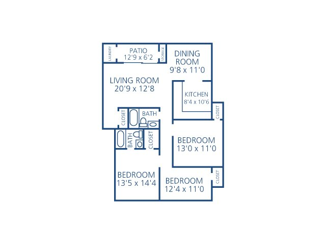 3 Bedrooms 2 Bathrooms Apartment for rent at The Brittany in Indialantic, FL