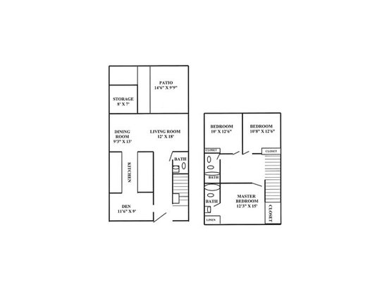 3 Bedrooms 2 Bathrooms Apartment for rent at Randolph Park in Charlotte, NC
