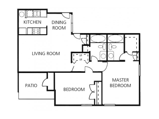 2 Bedrooms 2 Bathrooms Apartment for rent at Crossings At Fox Meadows in Memphis, TN