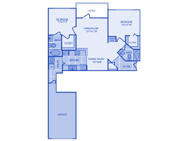 2 Bedrooms 2 Bathrooms Apartment for rent at Ashlar Apartment Homes in Fort Myers, FL