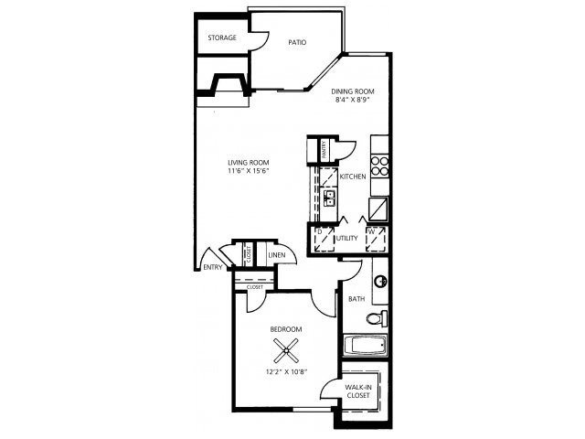 1 Bedroom 1 Bathroom Apartment for rent at Great Hills in Austin, TX