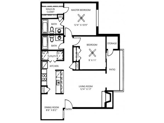 2 Bedrooms 2 Bathrooms Apartment for rent at Great Hills in Austin, TX