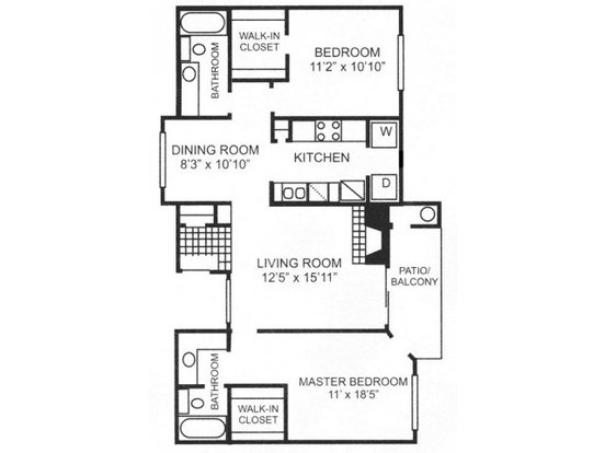2 Bedrooms 2 Bathrooms Apartment for rent at Canyon Creek Apartment Homes in Austin, TX