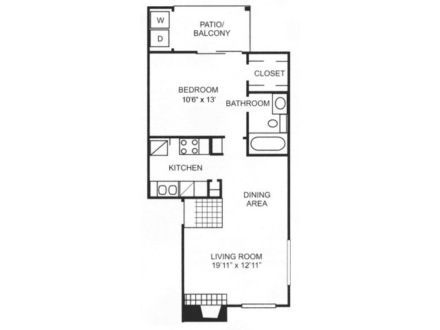 1 Bedroom 1 Bathroom Apartment for rent at Canyon Creek Apartment Homes in Austin, TX