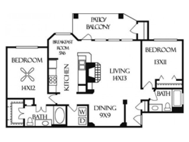2 Bedrooms 2 Bathrooms Apartment for rent at Sedona Springs in Austin, TX