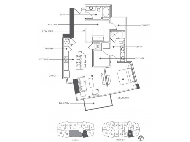 2 Bedrooms 2 Bathrooms Apartment for rent at Element in Tampa, FL