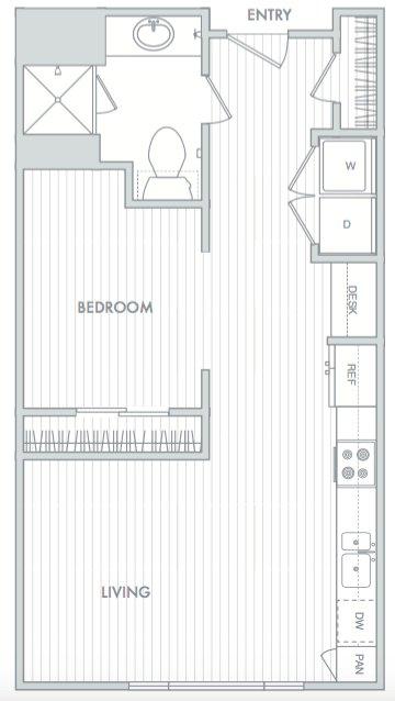 Studio 1 Bathroom Apartment for rent at Hanover North Broad in Philadelphia, PA