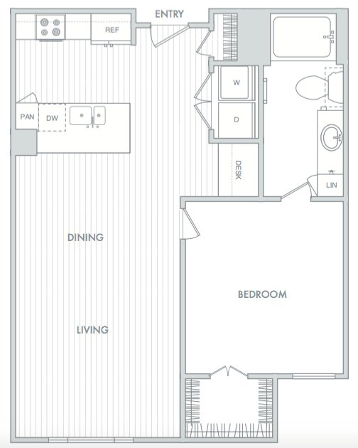 1 Bedroom 1 Bathroom Apartment for rent at Hanover North Broad in Philadelphia, PA