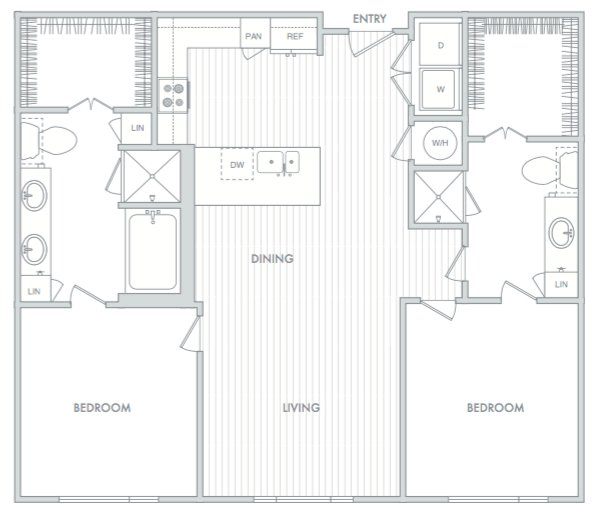2 Bedrooms 2 Bathrooms Apartment for rent at Hanover North Broad in Philadelphia, PA
